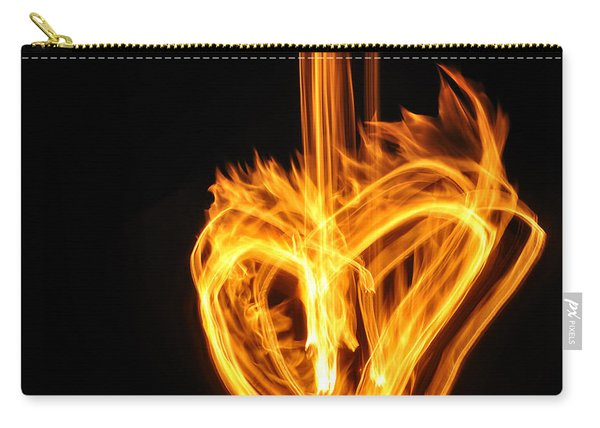 Hearts Aflame -falling In Love Carry-all Pouch