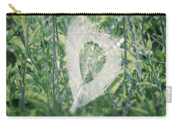Hearts In Nature - Heart Shaped Web Carry-all Pouch