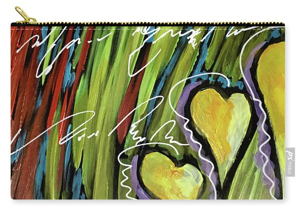 Hearts In The Grass Carry-all Pouch