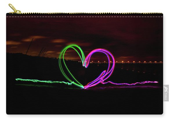 Hearts In The Night Carry-all Pouch