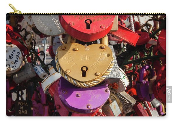 Hearts Locked In Love Carry-all Pouch