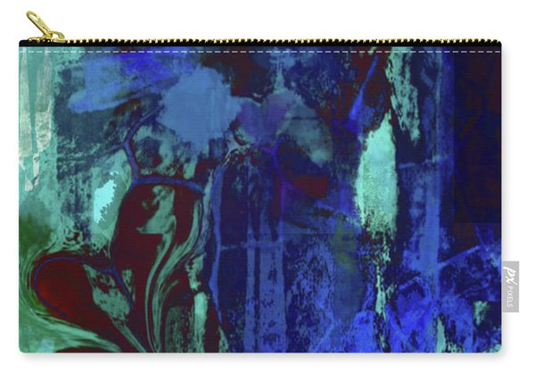 Red Heart- In Blues Carry-all Pouch
