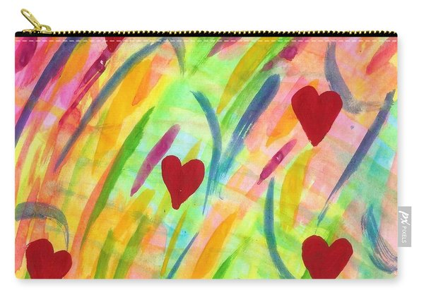 heARTs of Spring Carry-all Pouch
