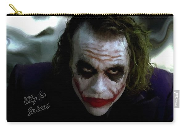 Heath Ledger Joker Why So Serious Carry-all Pouch