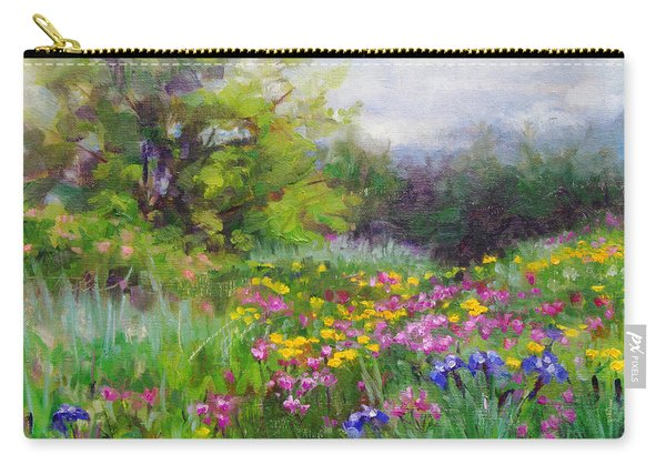 Carry-all Pouch featuring the painting Heaven Can Wait by Talya Johnson