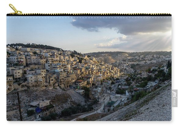 Heaven Shines On The City Of David Carry-all Pouch