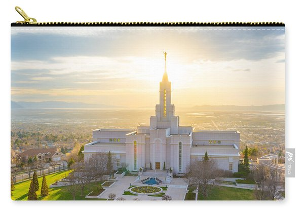 Carry-all Pouch featuring the photograph Heavenly Glow by Dustin  LeFevre