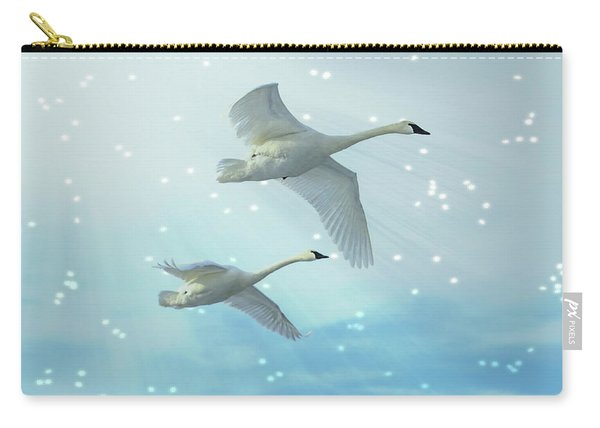 Heavenly Swan Flight Carry-all Pouch