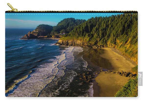 Heceta Head Lighthouse And Beaches Carry-all Pouch
