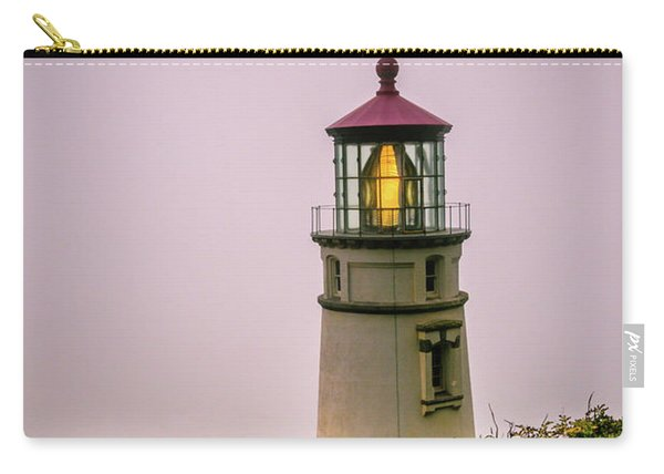 Heceta Head Lighthouse In The Fog Carry-all Pouch