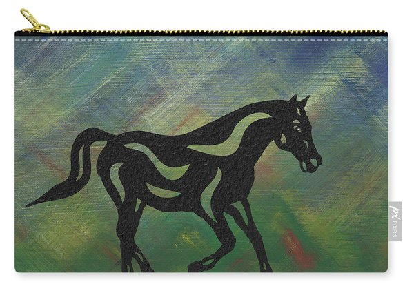 Heinrich - Abstract Horse Carry-all Pouch