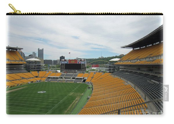 Heinz Stadium With Pittsburgh Skyline Carry-all Pouch