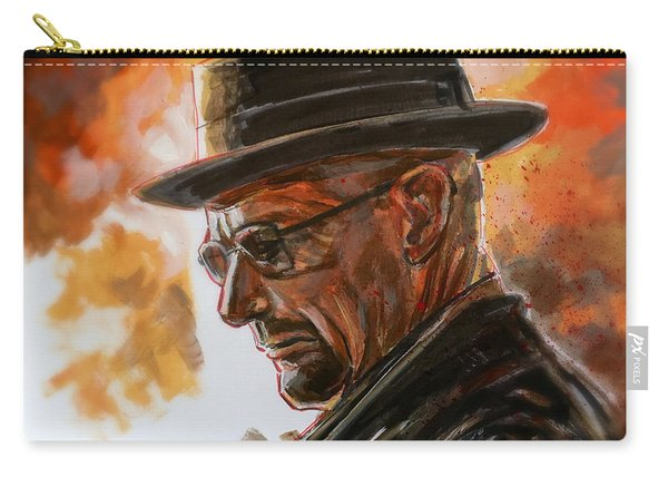 Carry-all Pouch featuring the painting Heisenberg by Joel Tesch