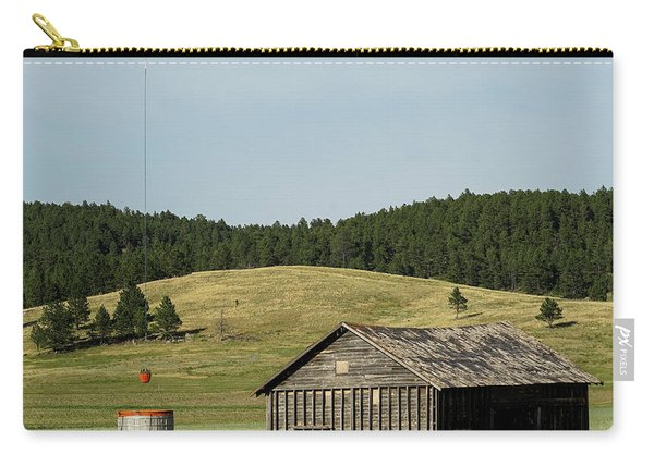 Carry-all Pouch featuring the photograph Helicopter Dips Water At Heliwell by Bill Gabbert
