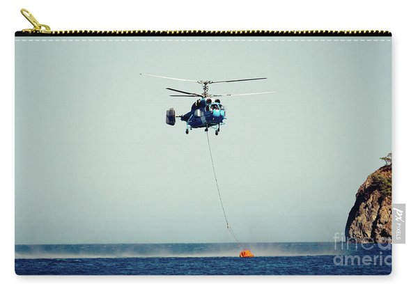 Helicopter Firefighter Take Water In The Sea Carry-all Pouch