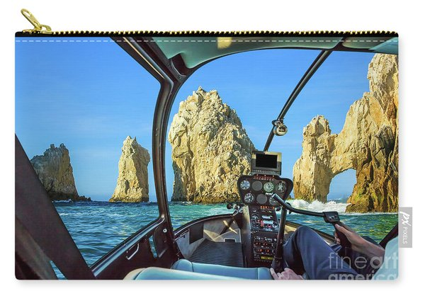 Carry-all Pouch featuring the photograph Helicopter On Cabo San Lucas by Benny Marty