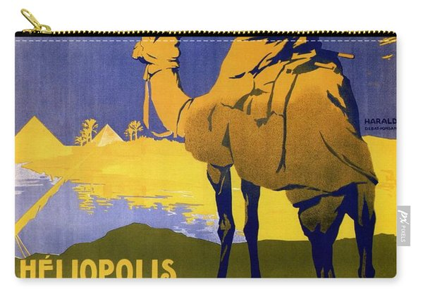 Heliopolis, Egypt - Grande Semaine D'aviation - Retro Travel Poster - Vintage Poster Carry-all Pouch