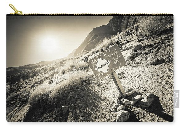 Hellhole Canyon Warning Carry-all Pouch