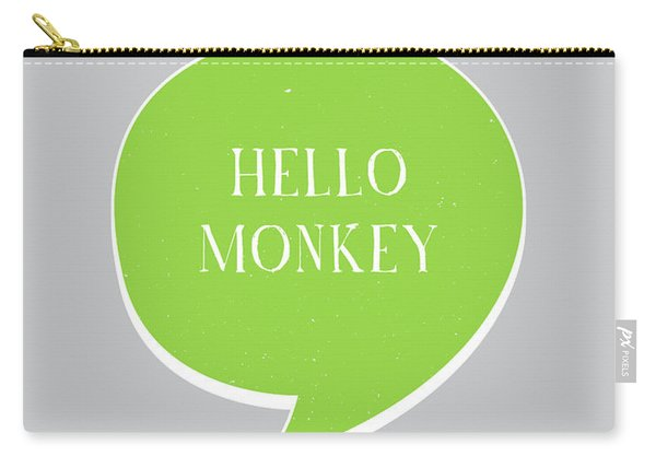 Hello Monkey Carry-all Pouch