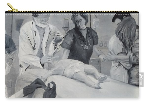 Carry-all Pouch featuring the painting Help by Kevin Daly