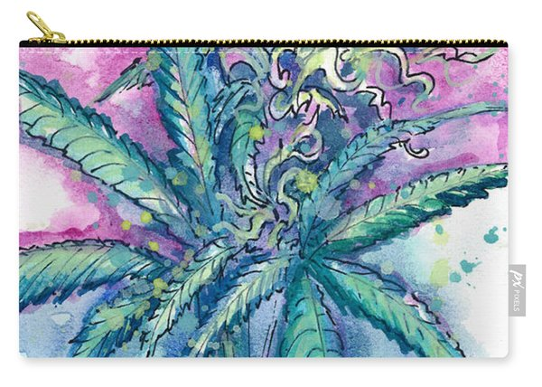 Carry-all Pouch featuring the painting Hemp Blossom by Ashley Kujan