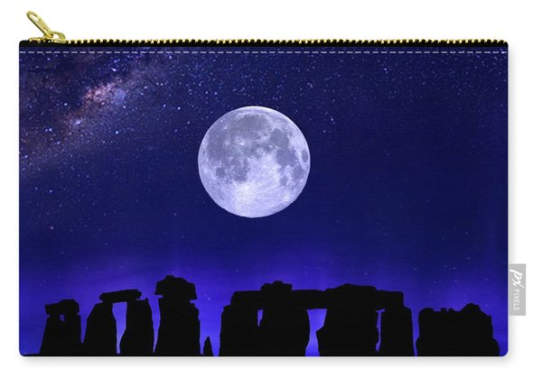 Henge Under The Supermoon Carry-all Pouch
