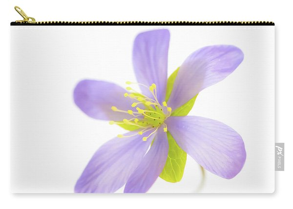 Hepatica On White Carry-all Pouch