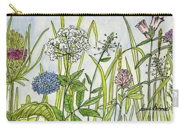 Herbs And Flowers Carry-all Pouch