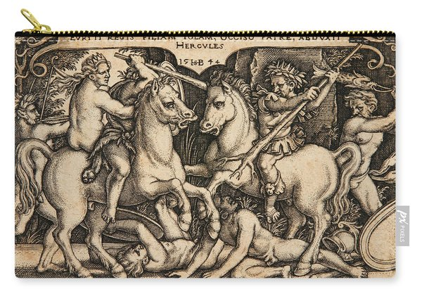 Hercules Abducting Iole Having Slain Her Father King Eurytus Carry-all Pouch