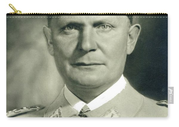 Herman Goering Autographed Photo 1945 Color Added 2016 Carry-all Pouch