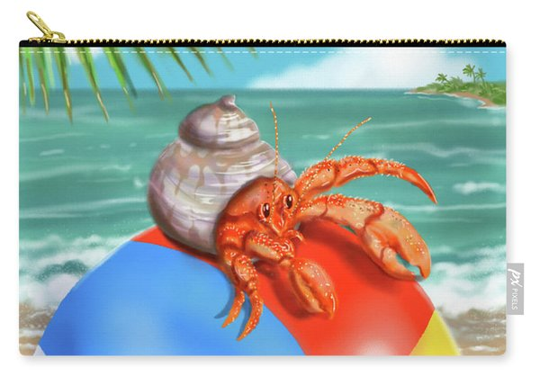 Hermit Crab On A Beachball Carry-all Pouch