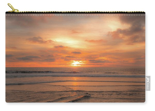 Carry-all Pouch featuring the photograph Hermosa Sunset Classic3 by Michael Hope