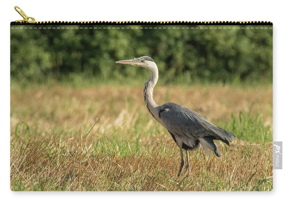Heron In The Field Carry-all Pouch