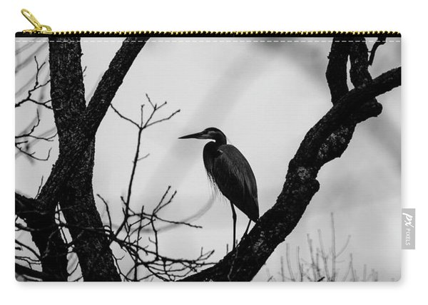 Heron In Tree Carry-all Pouch