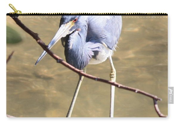 Heron On Branch Carry-all Pouch