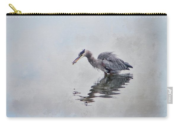 Heron Fishing  - Textured Carry-all Pouch