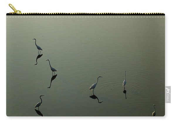 Herons On Lake 367 Carry-all Pouch