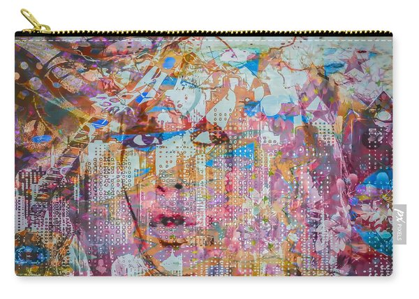 Carry-all Pouch featuring the digital art Hey Good Lookin by Eleni Mac Synodinos