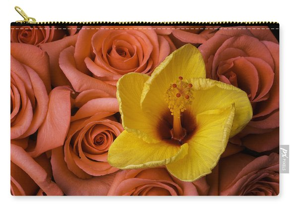 Hibiscus And Roses Carry-all Pouch