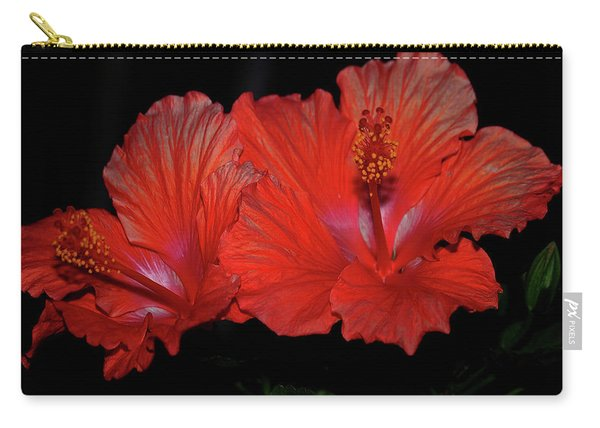 Hibiscus Blooms Aglow Carry-all Pouch