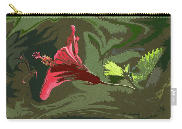 Hibiscus Dark And Light Photopainting 1 Carry-all Pouch