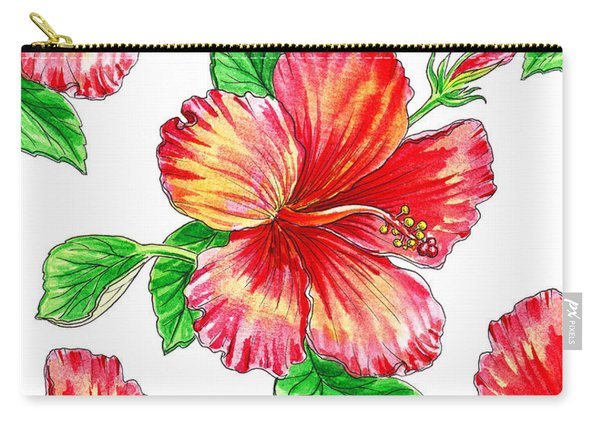 Hibiscus Magic Garden Carry-all Pouch