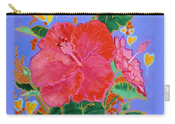 Hibiscus Motif Carry-all Pouch