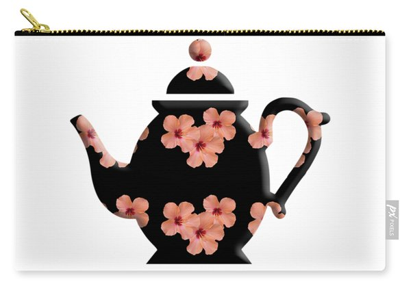 Hibiscus Pattern Teapot Carry-all Pouch