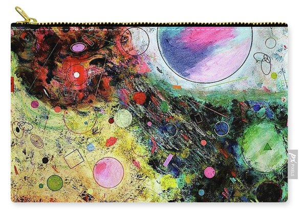 Carry-all Pouch featuring the mixed media Hidden Aliens by Michael Lucarelli