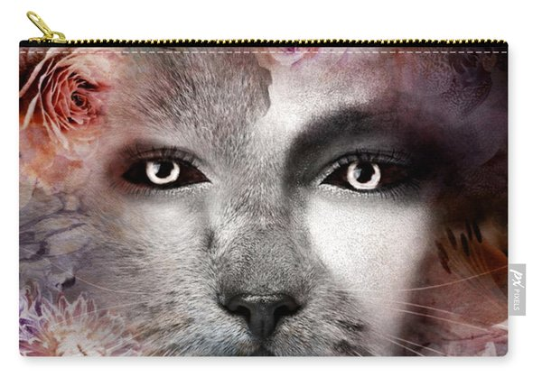 Hiding Catlady Carry-all Pouch