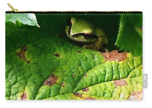 Hiding Tree Frog Carry-all Pouch