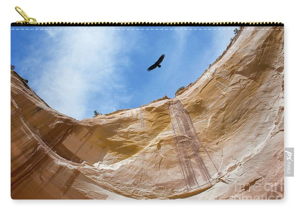 Carry-all Pouch featuring the photograph High Above Echo Amphitheater by Susan Warren