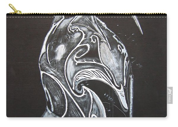 Carry-all Pouch featuring the painting High Elven Warrior Helmet by Richard Le Page
