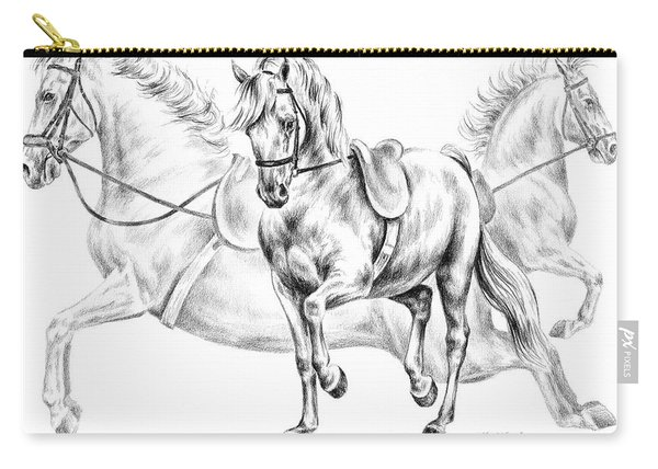 High School Dance - Lipizzan Horse Print Carry-all Pouch